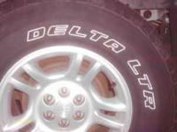Tires are delta sierra radial tires purchased from