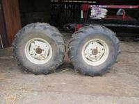 26/1200/12 fluid filled garden tractor tires; like new,