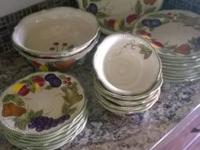 Beautiful Hand repainted, hand crafted Dish Set.