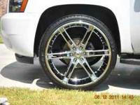 "26"" Drop Stars With Tires. Less than 3k miles. Call"