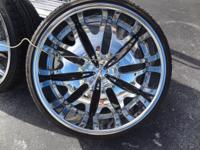 UP FOR SALE IS A SET OF 26 IN RIMS WITH TIRES. RIMS ARE