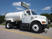 1999 International 4700 2000 Gallon Water Tank Truck,