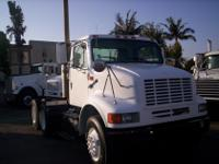 2002 I-H 8100 tandem axle day cab tractor. Mileage is