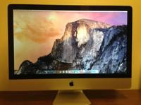 "Apple iMac 27"" Mid 2011 Core i5 2.7ghz 4GB RAM 1TB Hard"