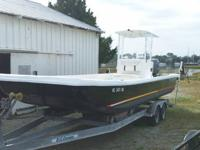 2002 Carolina Skiff with reinforced rub rails, deck and