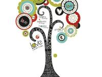 Get inspired by this creative tree of hope wall decal.