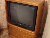 "This 27"" Mitsubishi ANALOG TV works great if connected"