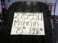 I HAVE COLLECTION OF 4 USED TIRES (275-55-17) MICHELIN