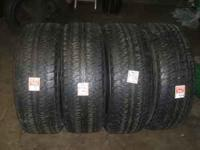 Set of 4 used tires P275 / 60 R 20 Firestone