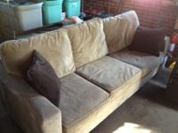 Gently-used contemporary living room couch. This couch