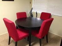 I am selling a 6 month old dining room table set. It is