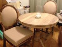 Reclaimed solid wood dining set comes with one (1)