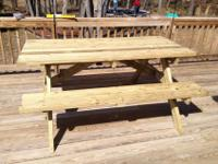 Custom Made 6 ft Picnic TableWe use top quality