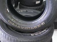 WE HAVE A SET OF 4 GOOD USED 275/65R18 FIRESTONE