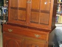 Beautiful Warm Solid Cherry China Hutch in great
