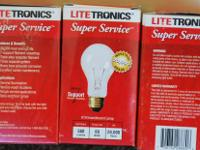 Box of 28 Litetronics - 60 Watt - A19 Clear - hard to