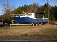 28 foot customized made boat. The boat has been