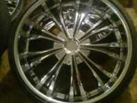 28 Rims and Tires 6 lugs universal 95% Tread left on