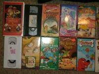 I HAVE 28 KIDS VHS TAPES FOR SALE. TAKE ALL FOR $10, MY