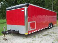 2000 Pace Shadow, top of line Enclosed Trailer. Red, 28