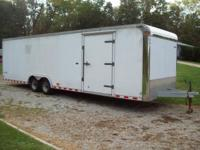 2001 Pace American Shadow 28'x8 1/2' Enclosed trailer,