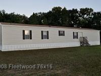 One Owner 16x76 3bedrooms, 2 full baths Open floor plan