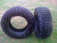 Set of 4 285/65-18 tires, Terra Grappler-M-S less than