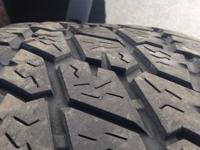 Nitto tires 285/70/17 75% tread . Call or text me at