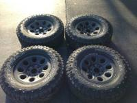 Set of four Good Year Dura Trac off road tires with