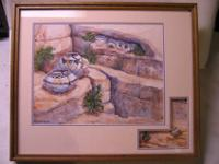 This is a beautiful Anasazi Indian Print by Betty Van