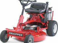 "28"" snapper high vac riding lawn mower. Electric start"