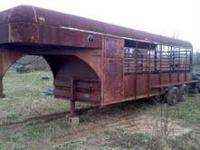800.00frim cash have a 28ft livestock gooseneck trailer