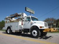 1998 International 4700 Auger / Bucket, DT-466 Engine,