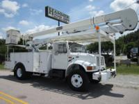 2002 International 4900 55? Bucket Truc, 2 Man Bucket,