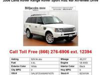 2006 LandRover RangeRoverSport White HSE 4dr All-wheel