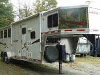 Lakota three horse slant gooseneck with full living