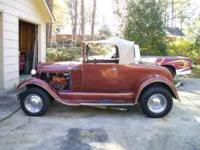 1929 Ford Model A Roadster fiberglass body built in the