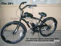 "29"" Cruiser Style Bike with performance 49cc engine kit"