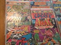 Up for sell is 29 DC comics.i am not a comic book guy