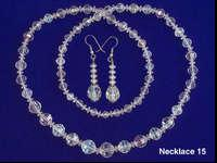 "29"" Swarovski crystal necklace and matching french wire"
