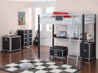 Coaster #460281 Loft Bed ~ Solid Metal Silver & Black