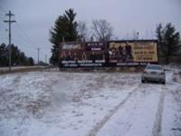 Ten acres. Lots of frontage on busy hwy 371. Half