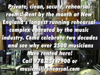 Rehearsal studios, practice space, and band rooms