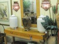 2 piece set. Asian console table and matching mirror