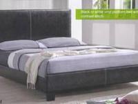 Queen grayson platform bed w/ mattress only