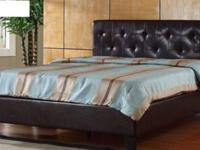 Stylish Queen Leather Platform Bed, brand New in Boxes.
