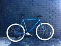 """Azure""Ocean Blue frame, white wheels.Miami's brand of"