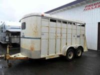 1991 Logan three horse slant with stock sides and front