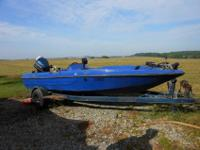 ProCraft Bass Boat and matching trailer 1988 - 16'6""