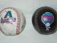 We have 2 Diamondbacks baseballs that have been used.